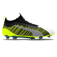Puma One 5.1 Football Boots White / Black US Mens 7 / Womens 8.5, White / Black, rebel_hi-res