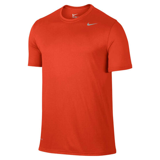 Nike Mens Dri-FIT Training Tee, Orange, rebel_hi-res