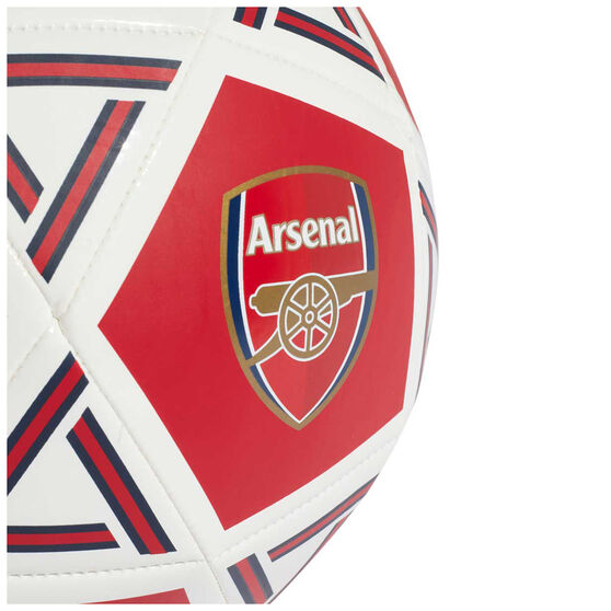 adidas Arsenal FC Capitano Home Soccer Ball Red 5, Red, rebel_hi-res