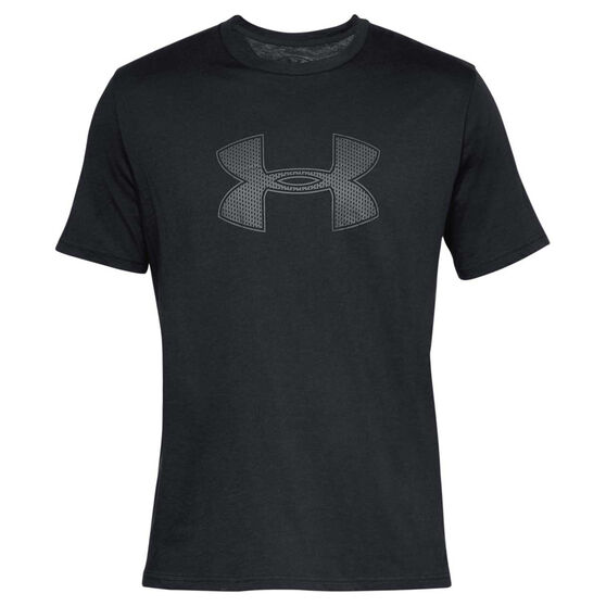 Under Armour Mens Big Logo Tee Black / Grey S, Black / Grey, rebel_hi-res