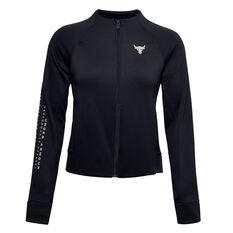 Under Armour Womens Project Rock Jacket Black XS, Black, rebel_hi-res