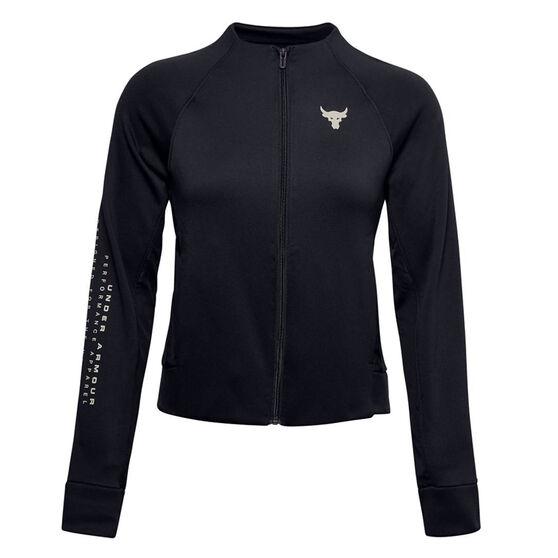 Under Armour Womens Project Rock Jacket, Black, rebel_hi-res