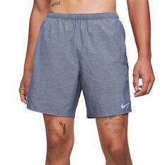 Nike Mens Dri-Fit Challenger Brief-Lined Running Shorts Grey S, Grey, rebel_hi-res