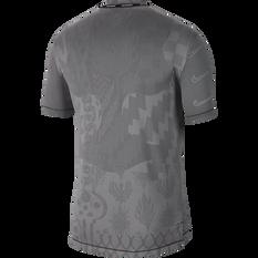 Nike Mens Wild TechKnit Running Tee Black / Grey S, Black / Grey, rebel_hi-res
