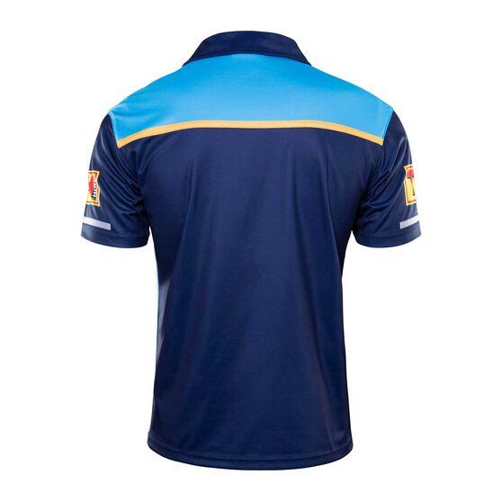 Gold Coast Titans 2020 Mens Media Polo, Blue, rebel_hi-res