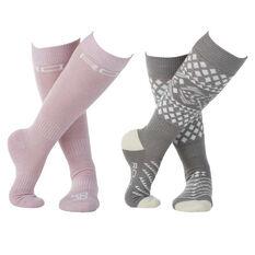 Rojo Womens 2 Pack Socks Multi US 2 - 8, , rebel_hi-res