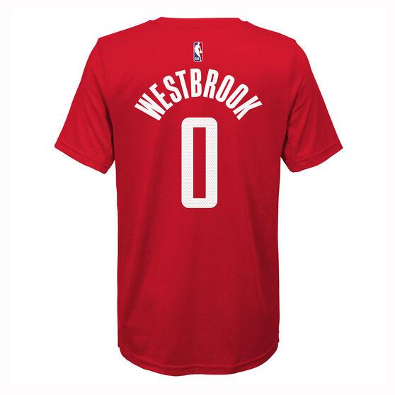 Nike Houston Rockets Russell Westbrook 2019/20 Kids Icon Tee, Red, rebel_hi-res