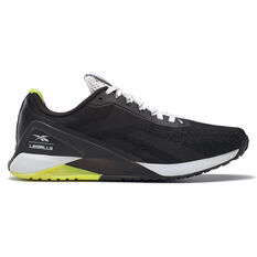 Reebok Nano X1 Mens Training Shoes Black/White US 7, Black/White, rebel_hi-res