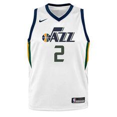 Nike Utah Jazz Joe Ingles 2020/21 Kids Association Jersey White S, , rebel_hi-res