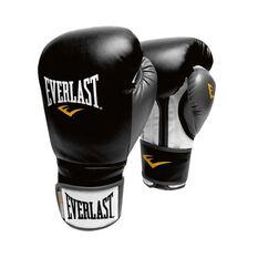Everlast Powerlock Training Boxing Glove Black / Grey 16oz, , rebel_hi-res