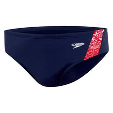 Speedo Mens Boom Brief Navy / Red 14, Navy / Red, rebel_hi-res
