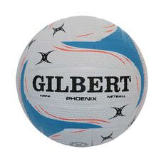 Gilbert Pheonix Mini Netball White / Blue Mini, White / Blue, rebel_hi-res