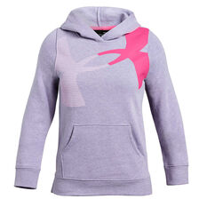 90ae26acb Under Armour Girls Rival Hoodie Purple XS, Purple, rebel_hi-res ...