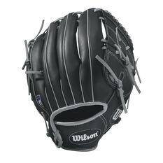 Wilson 360 Right Hand Throw Baseball Glove Black / Silver 11in Right Hand, Black / Silver, rebel_hi-res