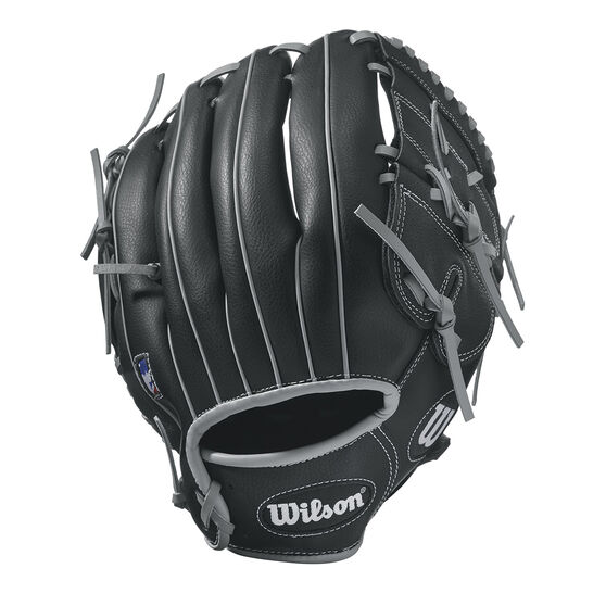 Wilson 360 Right Hand Throw Baseball Glove, Black / Silver, rebel_hi-res