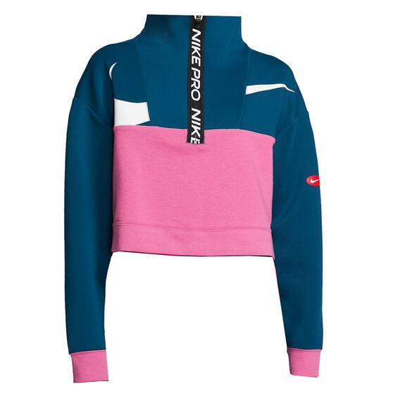Nike Pro Womens Get Fit Icon Clash Jacket, Blue / Pink, rebel_hi-res