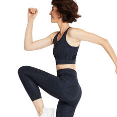 Nimble Womens Zip N Go Sports Bra, Print, rebel_hi-res