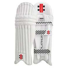 Gray Nicolls Platinum Junior Cricket Pads White Youth Right Hand, White, rebel_hi-res