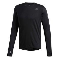 adidas Mens Own The Run Long Sleeve Tee Black S, Black, rebel_hi-res
