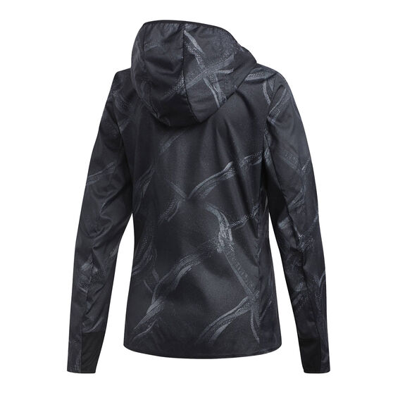 adidas Womens Own The Run Graphic Jacket, Grey, rebel_hi-res