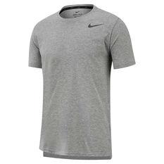 Nike Mens Breathe Dri-FIT Training Tee Grey S, Grey, rebel_hi-res