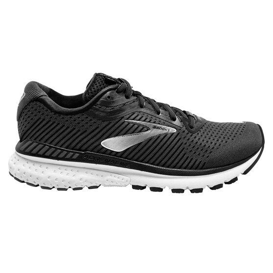 Brooks Adrenaline GTS 20 2E Mens Running Shoes, Black/White, rebel_hi-res