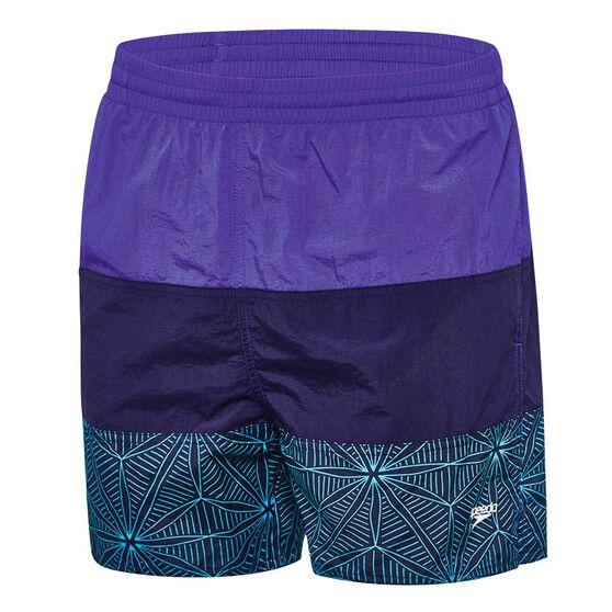 Speedo Mens 3 Panel Leisure Swim Shorts, Blue / Navy, rebel_hi-res