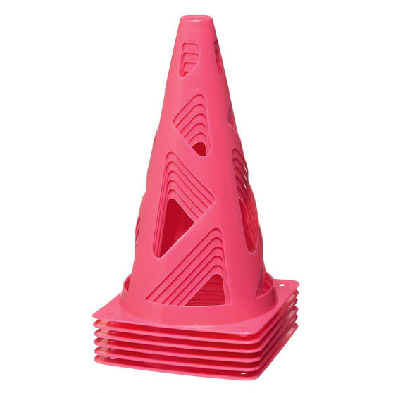 Zenith Pink Collapsible Witches Hat 6 Pack, , rebel_hi-res