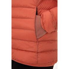Macpac Womens Uber Light Hooded Down Jacket, Orange, rebel_hi-res