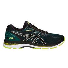 Asics GEL Nimbus 20 Mens Running Shoes Black / Lime US 7, Black / Lime, rebel_hi-res