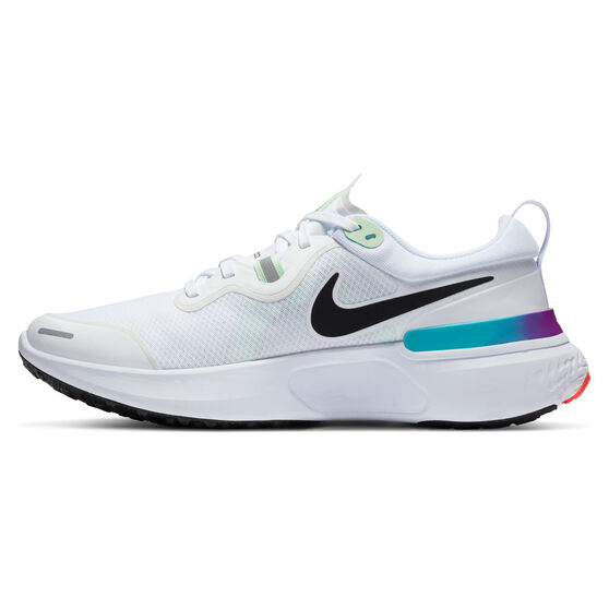Nike React Miler Mens Running Shoes, White/Black, rebel_hi-res