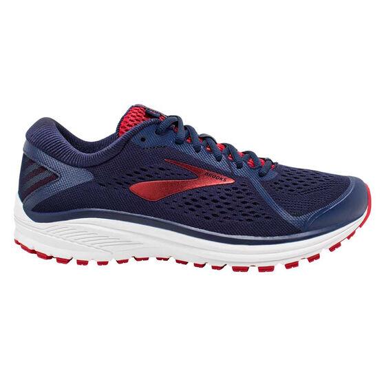 Brooks Aduro 6 Mens Running Shoes, Navy / Red, rebel_hi-res