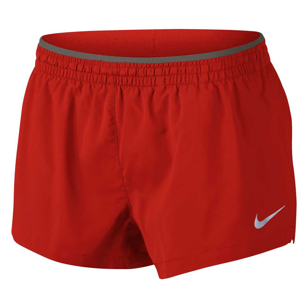 Nike Womens Elevate 3in Running Shorts Red   Grey M Adult  affa51e93