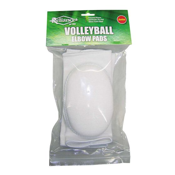 Reliance Volleyball Junior Elbow Pads White Junior, , rebel_hi-res