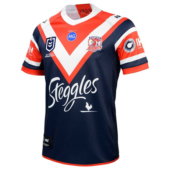 Sydney Roosters 2020 Mens Home Jersey, Navy/Red, rebel_hi-res