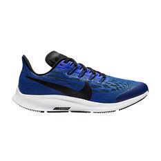 Nike Air Zoom Pegasus 36 Kids Running Shoes Blue / White US 1, Blue / White, rebel_hi-res
