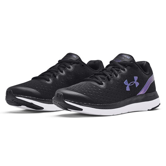 Under Armour Charged Impulse Colourshift Kids Running Shoes, Black/Blue, rebel_hi-res