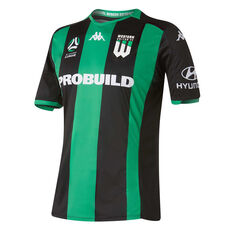 Western United 2019/20 Mens Home Jersey Black / Green S, Black / Green, rebel_hi-res