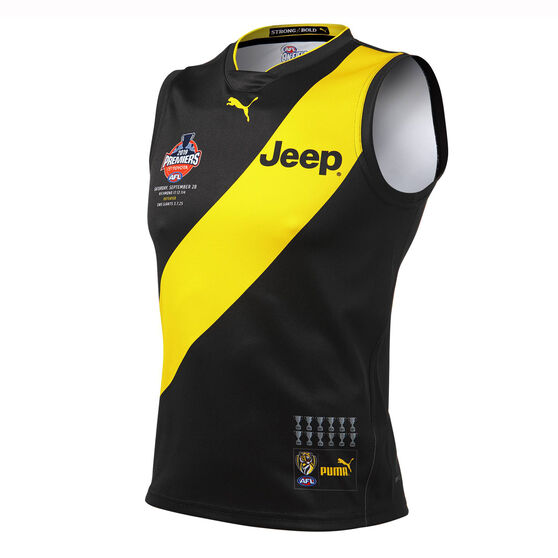 Richmond Tigers Mens 2019 Premiership Guernsey, Black / Yellow, rebel_hi-res