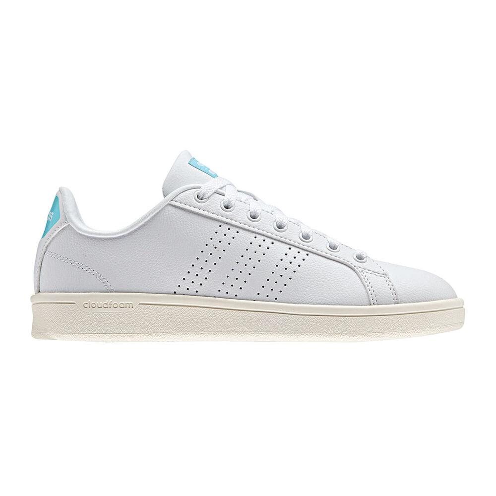 adidas Cloudform Advantage Clean Womens Casual Shoes White   Aqua US ... e62b49507