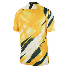 Matildas 2019 Mens Home Jersey Yellow S, Yellow, rebel_hi-res