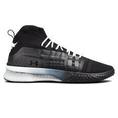 Under Armour Project Rock 1 Mens Training Shoes Black / White US 7, Black / White, rebel_hi-res