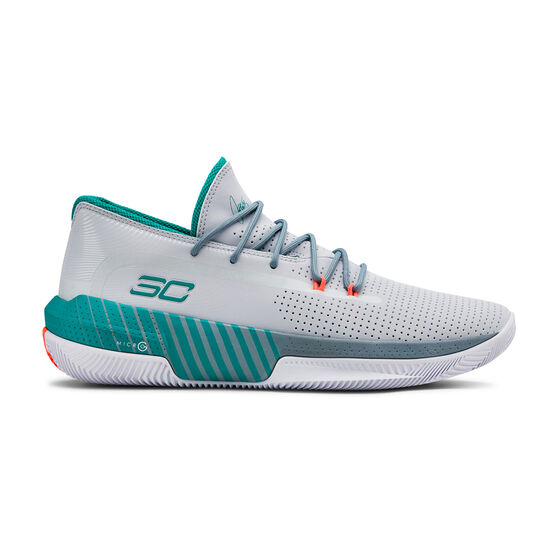 Under Armour SC 3ZERO III Mens Basketball Shoes, Grey, rebel_hi-res