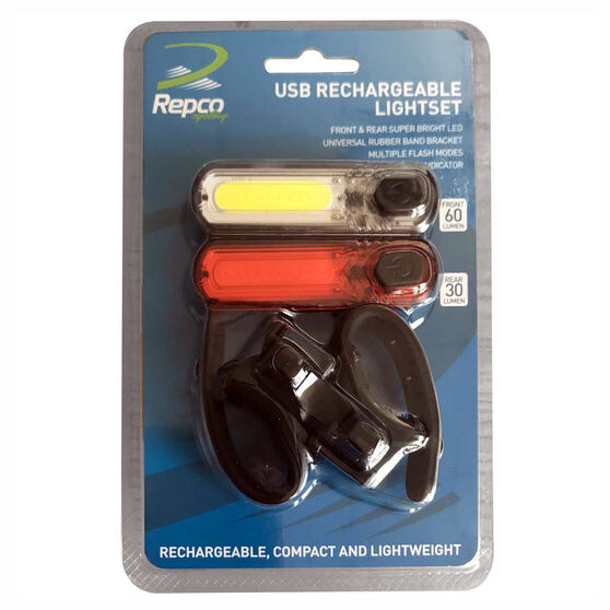Repco USB Bike Light Set, , rebel_hi-res