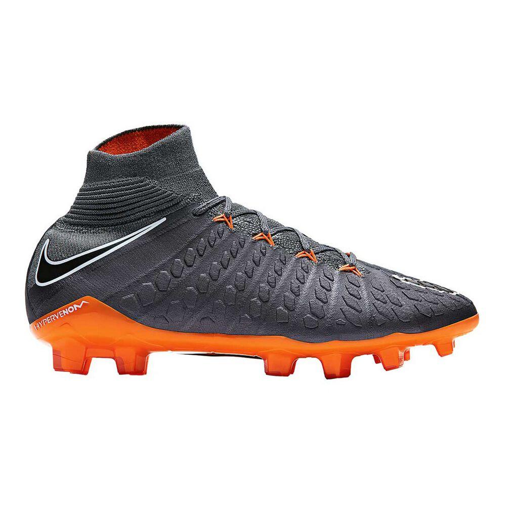 big sale cc256 66b6c Nike Hypervenom Phantom III Elite Junior Football Boots Grey / Orange US 4  Junior