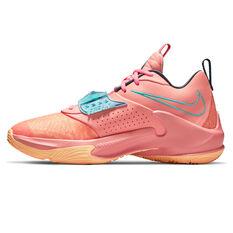 Nike Zoom Freak 3 Crimson Bliss Basketball Shoes Pink/Blue US 7, Pink/Blue, rebel_hi-res