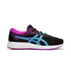 Asics Patriot 11 Kids Running Shoes Black / Purple US 1, Black / Purple, rebel_hi-res