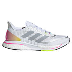 adidas Supernova+ Womens Running Shoes White/Silver US 6, White/Silver, rebel_hi-res
