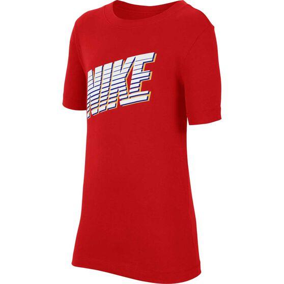 Nike Boys Sportswear Tee, Red / White, rebel_hi-res