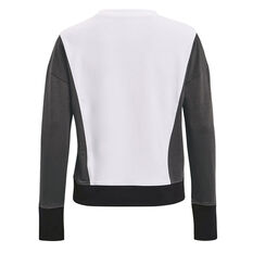 Under Armour Womens Rival Terry Crew Sweater White XS, White, rebel_hi-res